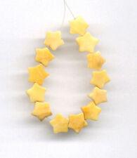 """YELLOW JADE 8MM STAR BEADS - 4"""" Strand - 2071"""