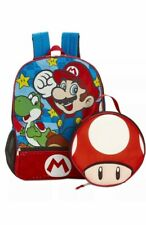 Super Mario Brothers Yoshi Backpack Set Toad Lunch Bag Nwt
