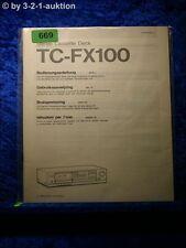 Sony Bedienungsanleitung TC FX100 Cassette Deck (#0669)