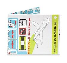 Dynomighty IN FLIGHT PLANE bifold MIGHTY WALLET made tyvek travel bon voyage