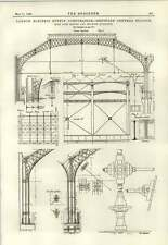 1889 Stazione Centrale di Deptford TETTO sopra motore ed edifici MACCHINA