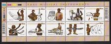South Africa 2011. Rare Musical Instruments. Sheetlet of 10. MNH.
