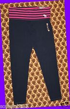 Abercrombie & Fitch Women's Striped NAVY & PINK Yoga Legging MEDIUM M