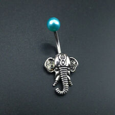 Elephant Belly Navel Button Ring Gem Indian Body Piercing Nose Stud Jewelry Gift