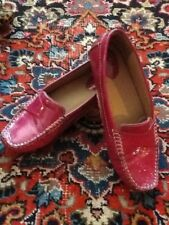 Clarks Artisan Fuchsia Hot Pink Patent Leather Driving Moccasin 7.5M VGUC