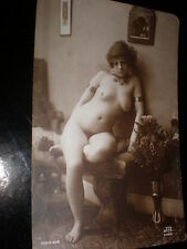 Old postcard nude woman jewellry French JA Paris serie 616 c1910s - 1920s
