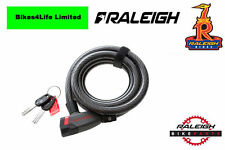 Raleigh Steel Cable Lock. Key Operated. 185cm x 10mm. Bicycle Lock ALA811