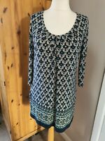 LADIES EAST FLORAL TUNIC SIZE 14 BOHO