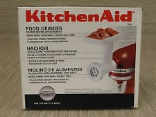 KitchenAid White Plastic Metal Food Grinder Stand Mixer Attachment Accessory