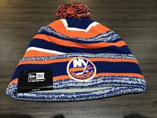 New York Islanders Cap Hat NHL Hockey New Era Beanie Toque OSFM NE Sport Pom