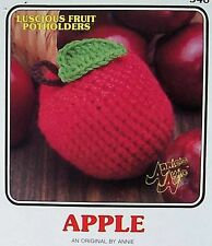 Crochet Luscious Fruit Potholders  Apple   AA