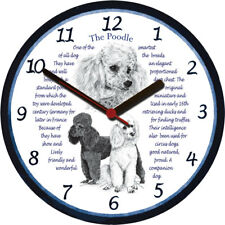 Poodle Large Wall Clock - Dog Breed Origins Animal Facts
