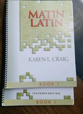 MATIN LATIN Book 1 Student Workbook and Teachers Manual Canon Press Karen Craig