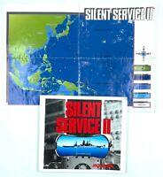 Notice + Carte du Jeu PC SILENT SERVICE II 2 IBM 5.25 (pour Big Box)