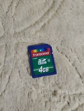 transcend 4GB 4G SDCard HC Secure Digital Memory Card for older devices
