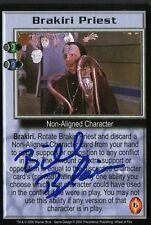 BABYLON 5 CCG Bill Blair WHEEL OF FIRE Brakiri Priest TRADING CARD AUTOGRAPHED