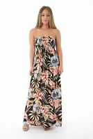 Womens Strapless Maxi Dress Ladies Sheering Boob tube Bandeau Long Lot Size 8-24