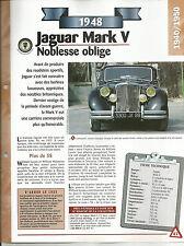 FICHE TECHNIQUE - JAGUAR MARK V - 1948