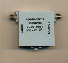 ADDINGTON LABS 101101910   0960-0084 Isolator, 20 dB, 24GHz, SMA (f/f)