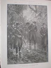 Spanish American War US Army wet season chaparral Cuba 1898 old print my ref T