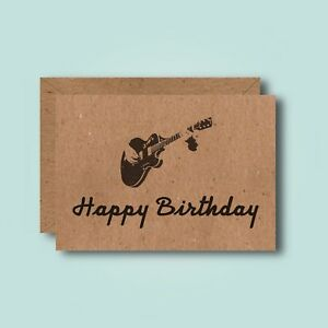 Guitar - Funny Birthday Card - Boyfriend Best Friend Hobby Music Fender Gibson