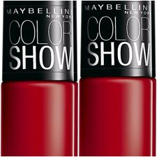 Pack of 2 Maybelline Color Show Nail Enamel Downtown Red 6 ml Each Free Shipping