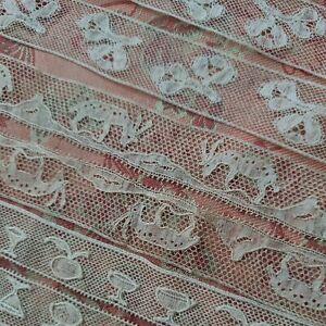 1800s Very Fine French Antique Lace Valencienne  2+ yds Point De Paris lot