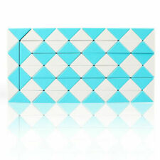 72 Sections Puzzle Snake Magic Ruler Cube Jigsaw Kids funny Toys Blue Color
