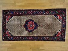 """5'x9'10"""" Persian Serab Camel Hair Hand Knotted Wide Runner Oriental Rug G28216"""
