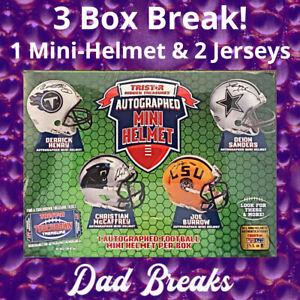 SAN FRANCISCO 49ERS TriStar signed Mini-Helmet + 2 Jerseys: 3 BOX LIVE BREAK!