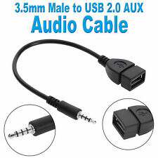 3.5mm Male Audio Plug AUX Jack to USB 2.0 Type A Female OTG Converter Adapter