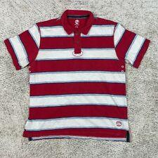 Timberland Polo Mens Large Shirt Slub Rubgy Vented Heavyweight Embroidered Logo