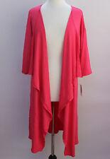 Medium LuLaRoe Shirley Kimono Beautiful Stretchy Thin Knit Solid Hot Pink sh77