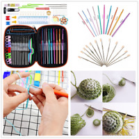 100pcs Yarn Knitting Needles Sewing Tool Crochet Hook Kits Case Scissors Holder