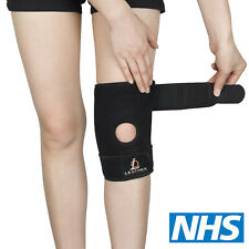 KNEE BRACE SLEEVE PATELLA SUPPORT NEOPREN STABILISING BELT ADJUSTABLE STRAP NHS
