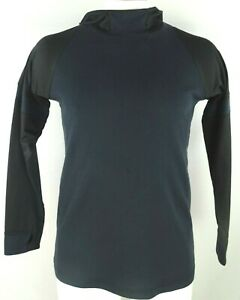 Men's Black Hooded Pullover with Thumb Holes