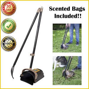 DOGS POOPER SCOOPER Arm Hammer Swivel Bin & Rake Pets Poop Scoop Waste Bags NEW