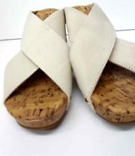 ANA A Approach Womens Size 9M(B) Sandals Wedge Platforms Open Toe Slip On