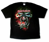 Iron Maiden TFF Face Final Frontier 2010 Tour Mens Black T Shirt New Official