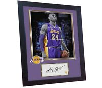 Kobe Bryant Lakers NBA signed autograph photo poster picture print BRYANT Framed