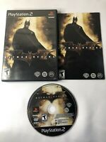 Batman Begins (Sony PlayStation 2, PS2, 2005) Black Label COMPLETE With Manual