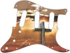 Stratocaster Pickguard Custom Fender SSS 11 Hole Guitar Pick Guard Cross in Sky