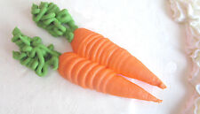"24 Sugar Royal Icing Carrots 1 1/2"" Decorations for Cakes & Cupcake Toppers"