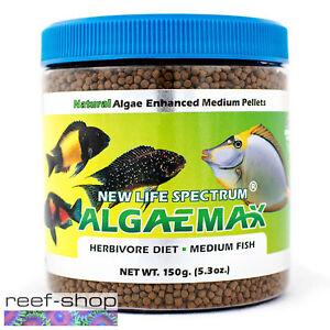 New Life Spectrum ALGAEMAX Medium Pellet 150g Fish Food Fast Free USA Shipping