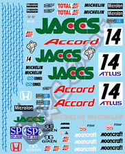 1/10 Touring Car Decal Set JTCC JACCS Honda 1997 - Tamiya Schumacher