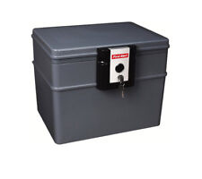 Water Fire File Chest Protector Box For Valuable Documents - Fireproof Lock Safe
