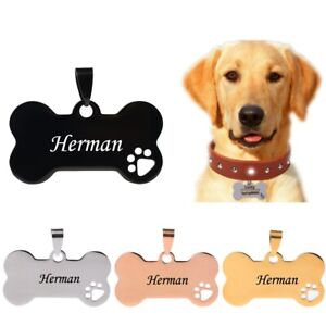 Custom Dog Tags  Dog Bone Personalized Dog Collar Tag