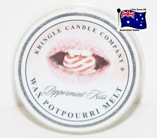 KRINGLE CANDLE ** Peppermint Kiss ** SCENTED BREAKABLE TART MELT SON OF YANKEE