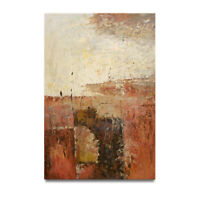 NY Art - Heavy Paint Layers Rustic Abstract 24x36 Oil Painting on Canvas - Sale!