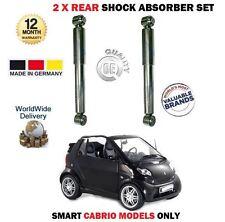 PER SMART CABRIO 2000-> 2 X POSTERIORE SX + DESTRO AMMORTIZZATORE 0005222V002